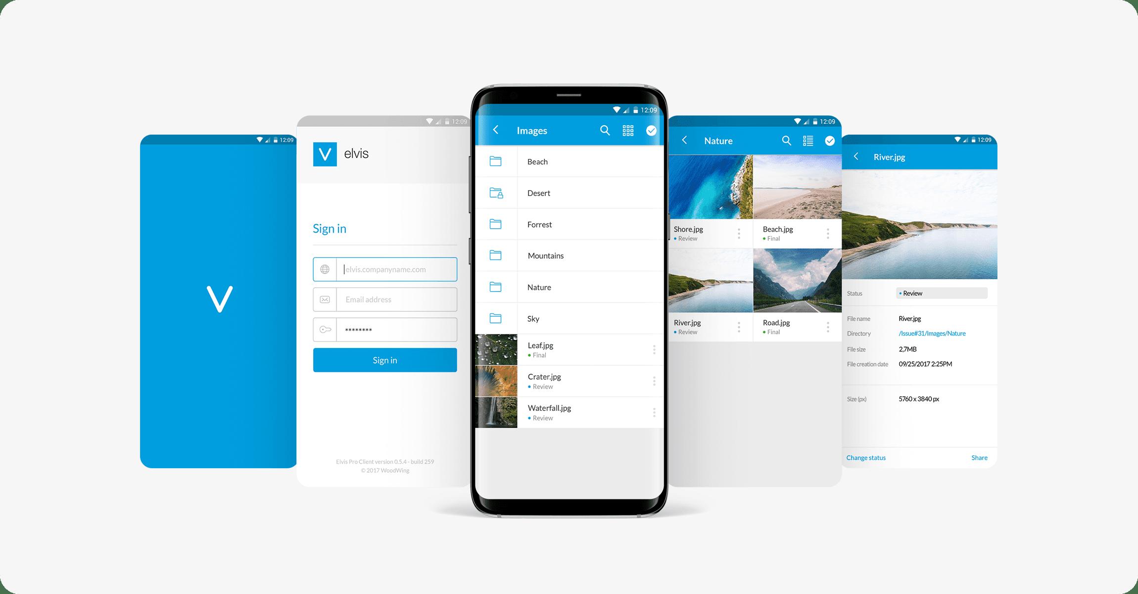 Elvis DAM / aplicación para iOS y Android